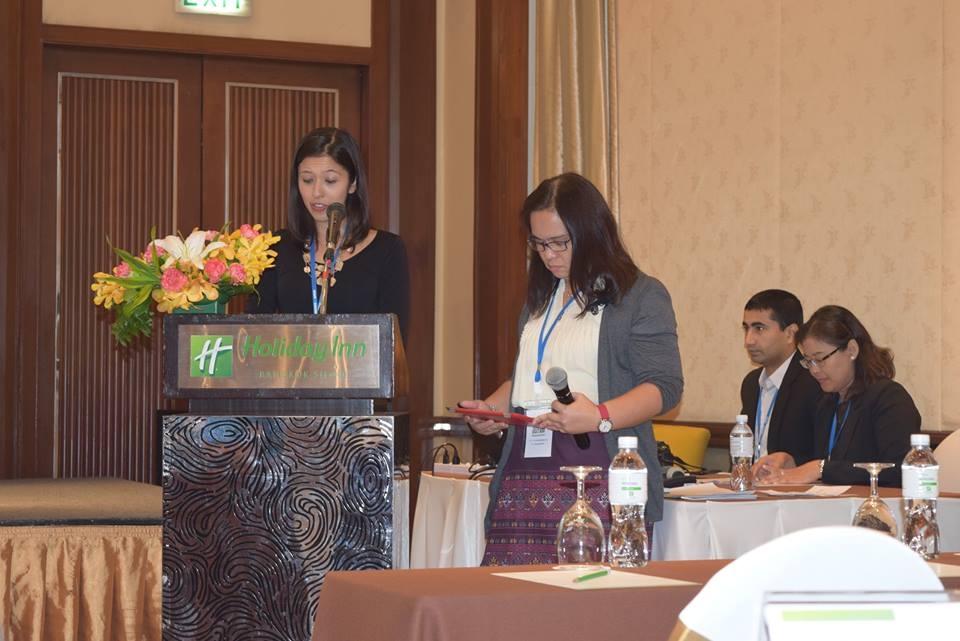 Cô Thanh Hương tại hội nghị