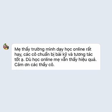 Ý kiến phụ huynh 1A